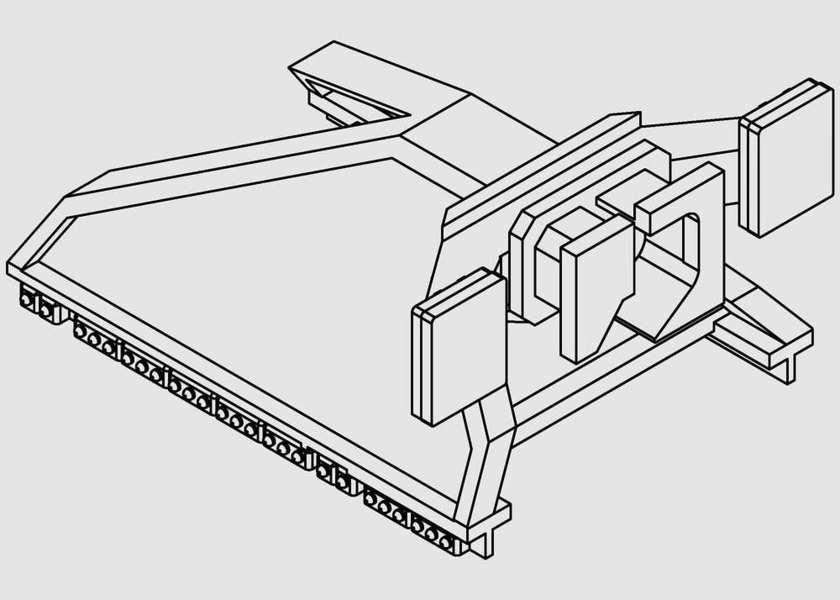 PerfectTrains Moderne sporstopper type 3 med centralkoblingspuffer