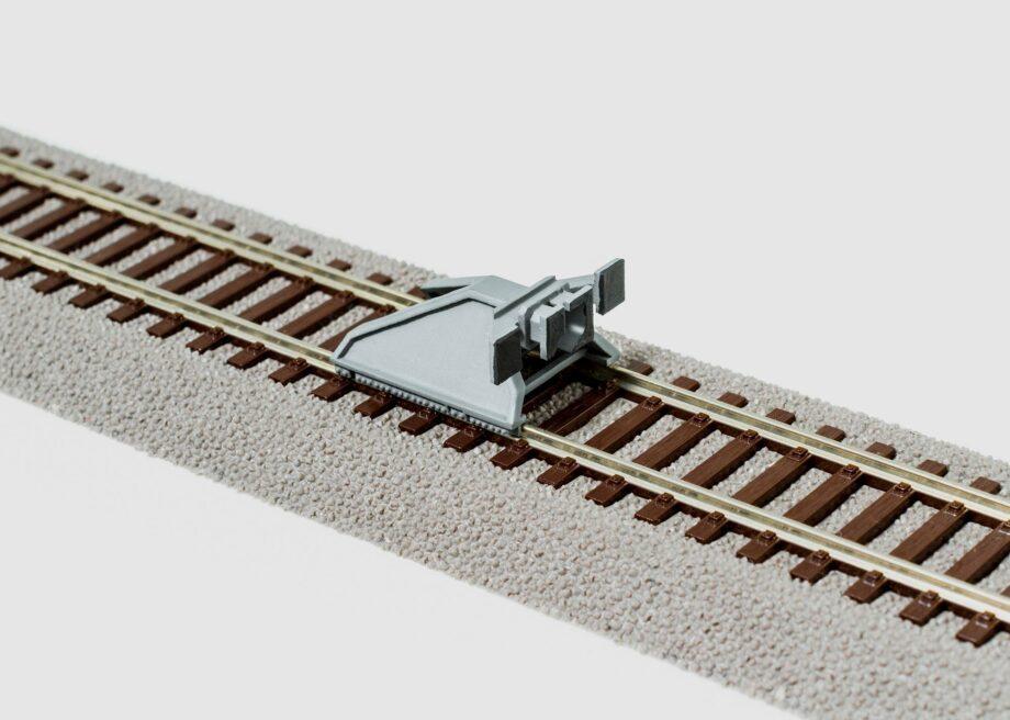 PerfectTrains Moderne sporstopper type 3 med centralkoblingspuffer grå